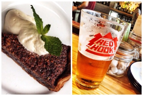 Pecan pie and beer