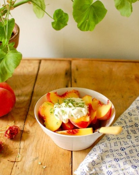 Fruit and creme fraiche (not my pic)