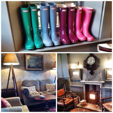 Hunter wellies, elegant and charming lounges