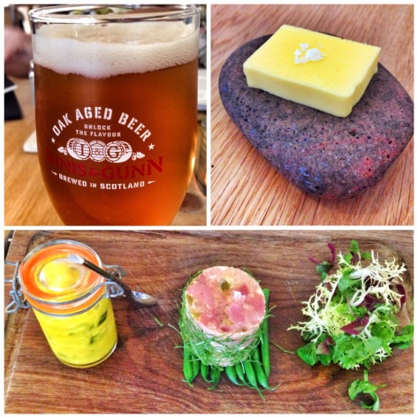 Beer, butter and terrine