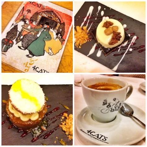 The menu, desserts